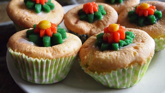 ozdobené muffiny