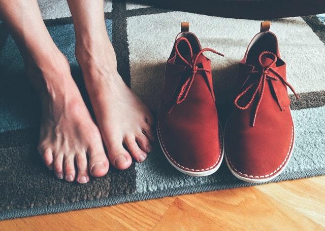 boty na rohožce