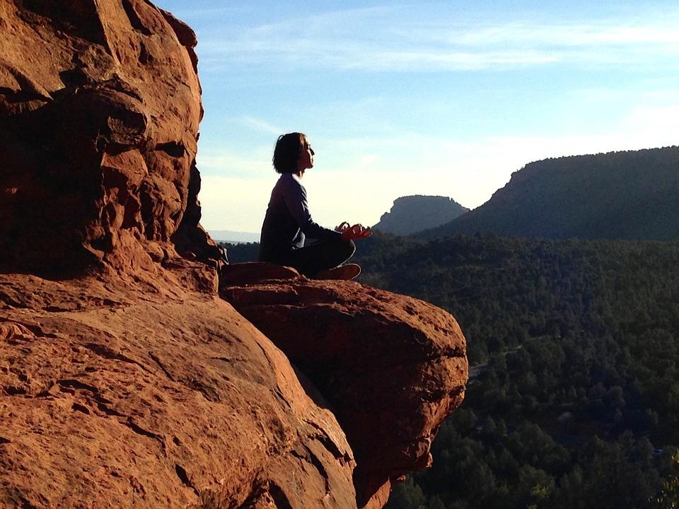 meditace na skále